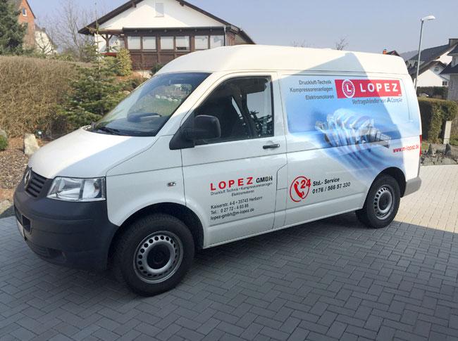 Fahrzeugbeschriftung Lopez