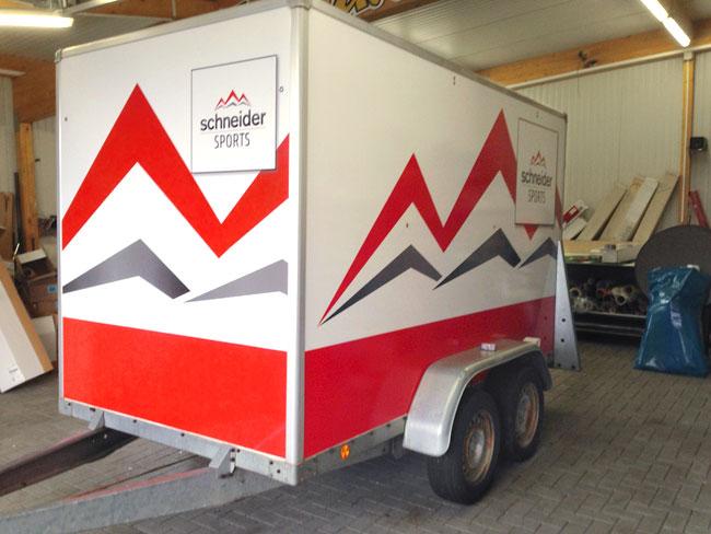 Fahrzeugbeschriftung Schneider Sports