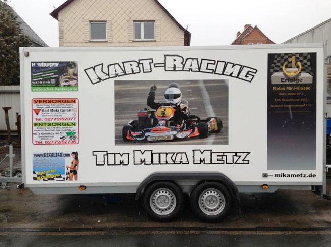 Fahrzeugbeschriftung Kart-Racing