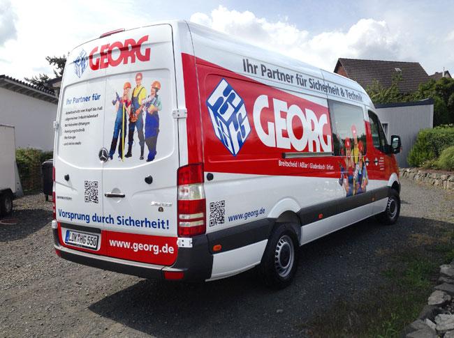 Fahrzeugbeschriftung Georg
