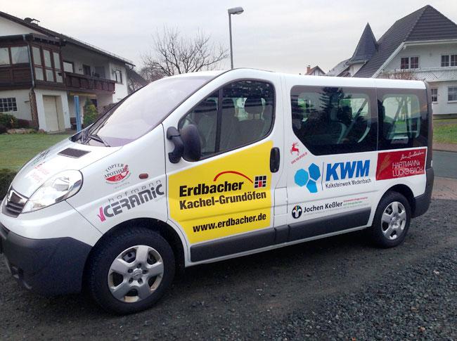 Fahrzeugbeschriftung Sponsoren