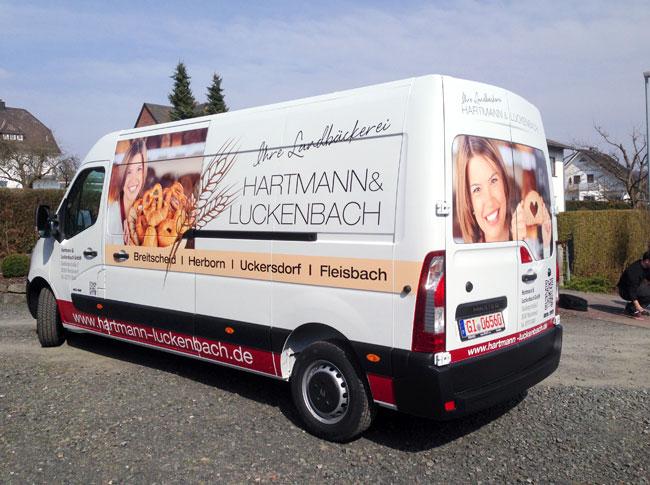 Fahrzeugbeschriftung Hartmann & Luckenbach