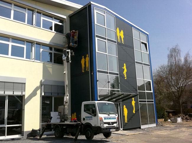 XXL Gebäudebeklebung