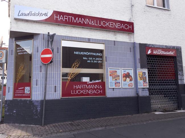 Schaufensterbeklebung Hartmann & Luckenbach