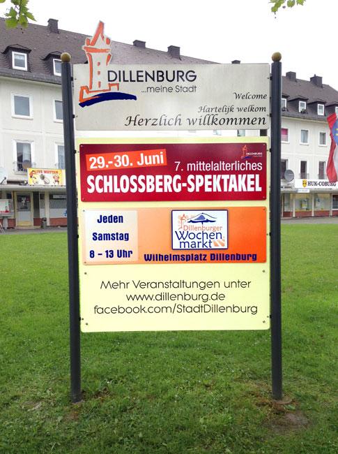 Veranstaltungstafel Dillenburg