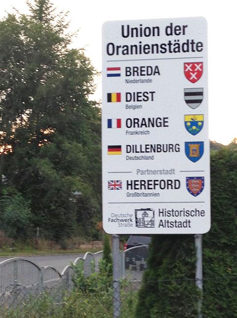 Schild Oranienstädte